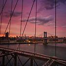 Beautiful New York City Sunset by Vivienne Gucwa