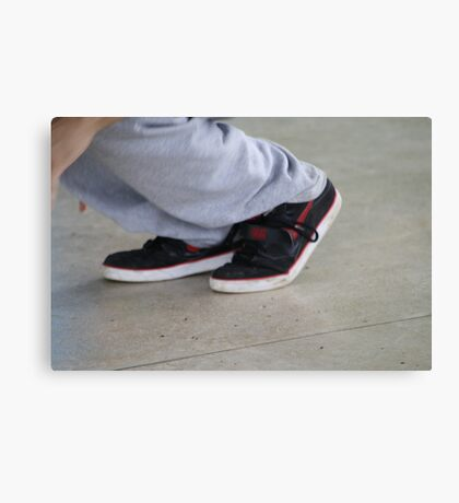 b boy foot Canvas Print
