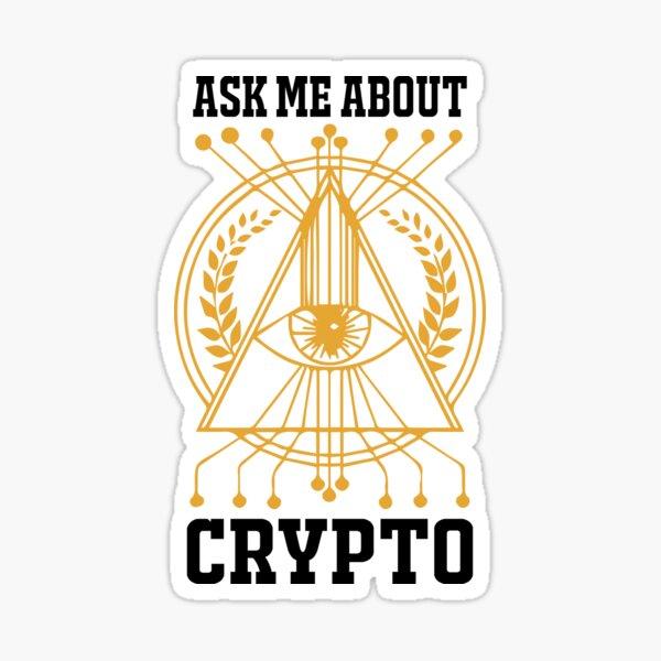 Frag mich über Krypto Sticker