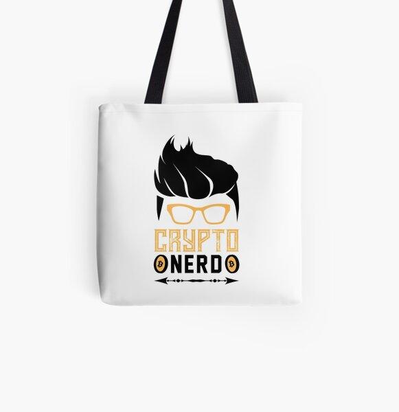 Krypto Nerd mit Haaren Allover-Print Tote Bag