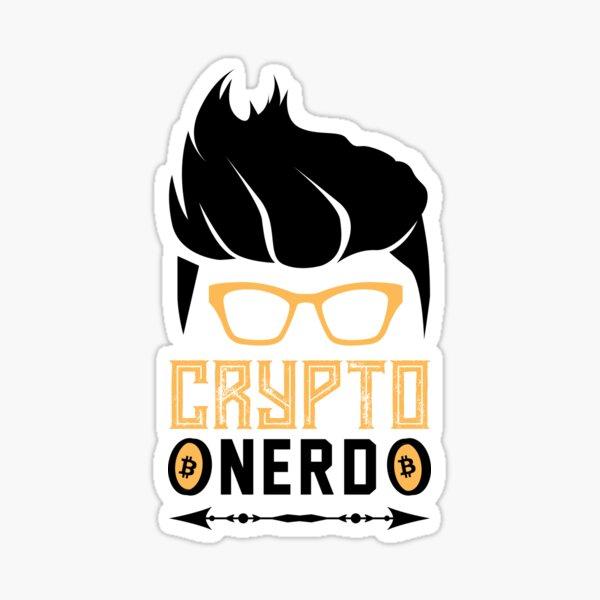 Krypto Nerd mit Haaren Sticker