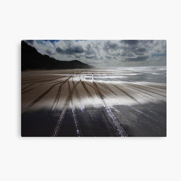 Sand Highway Metal Print