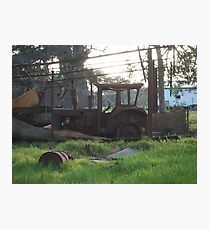 Rusty tractor Photographic Print