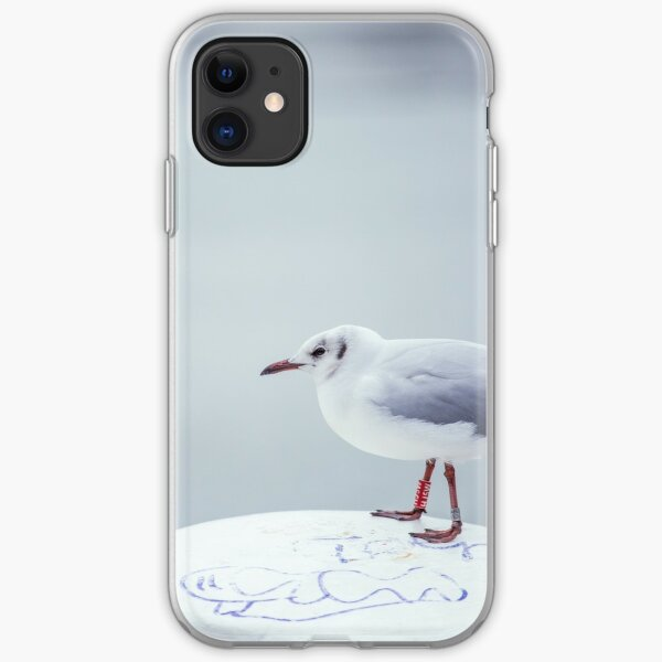 Seagull on bollard iPhone Soft Case