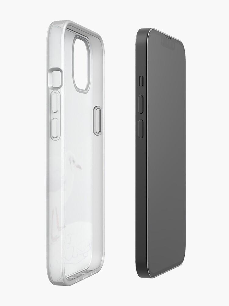 Alternate view of Seagull on bollard iPhone Case