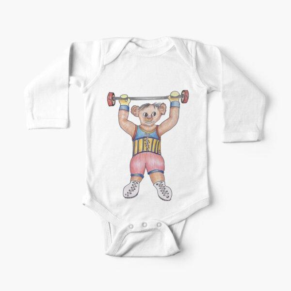 Arno Strongman Circus Performer Long Sleeve Baby One-Piece
