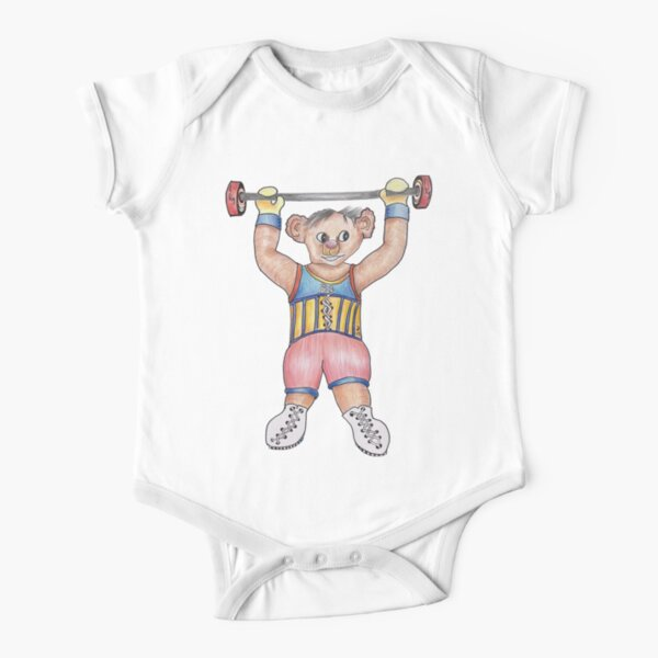 Arno Strongman Circus Performer Short Sleeve Baby One-Piece