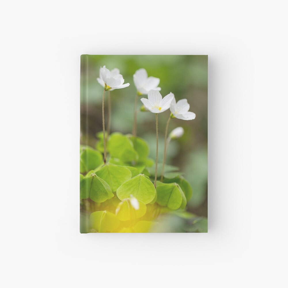 white clover in the forest Hardcover Journal