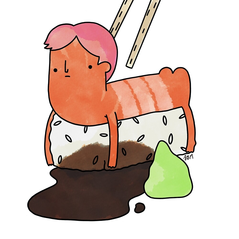 Sushi Dude by itsaduckblur