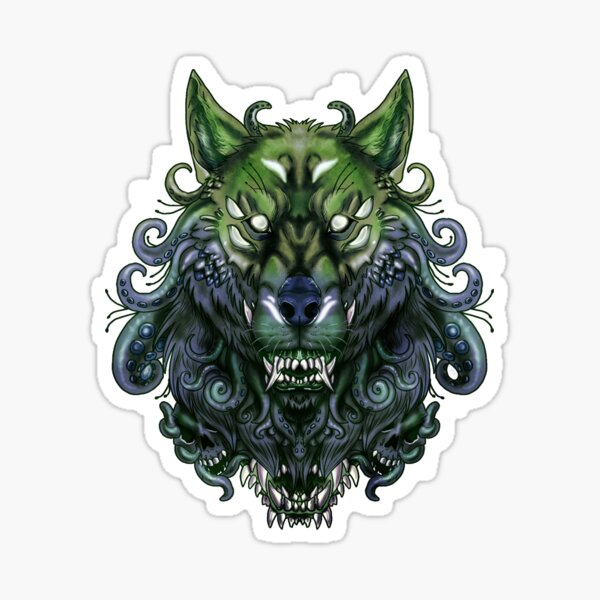 Eldritch werewolf Sticker