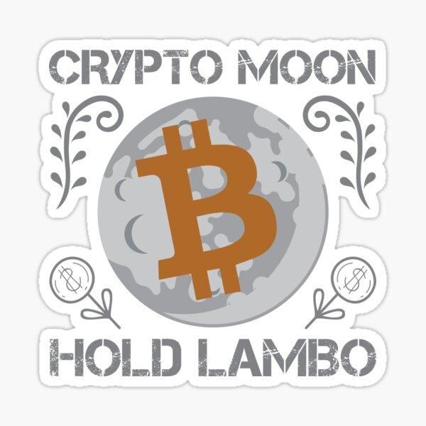 Krypto Mond HODL Lambo Sticker