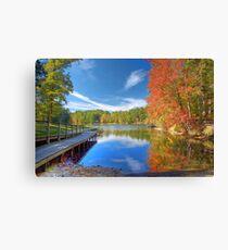 Fall Reflection on Mirror Lake Canvas Print