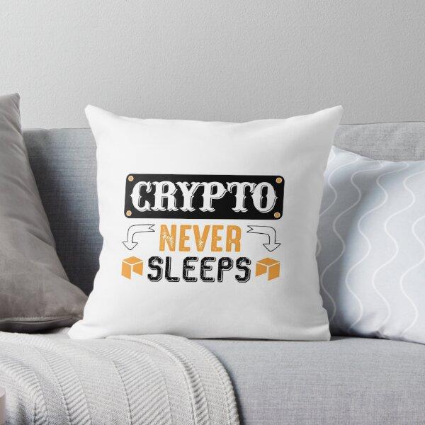 Krypto schläft nie Dekokissen