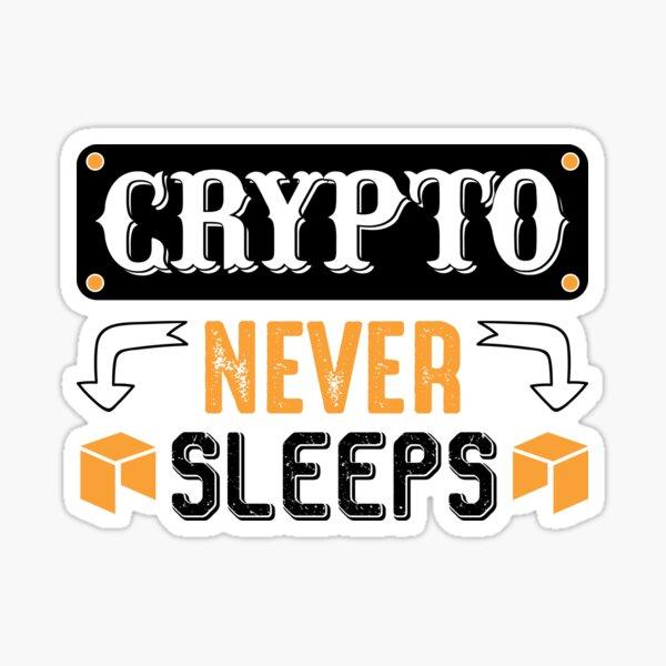 Krypto schläft nie Sticker