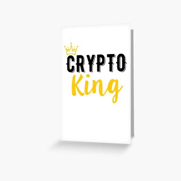 Krypto König Grußkarte