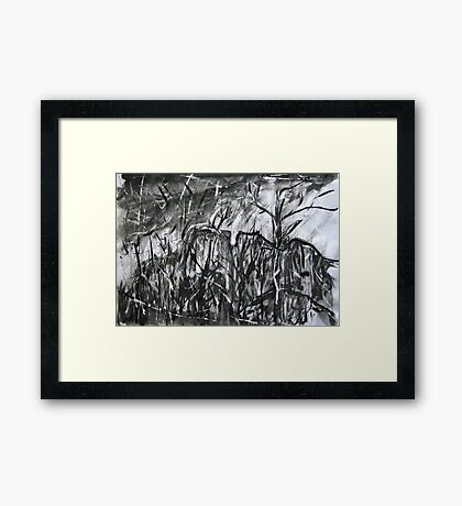 rocky bluff #2..... a view of the trees Framed Print
