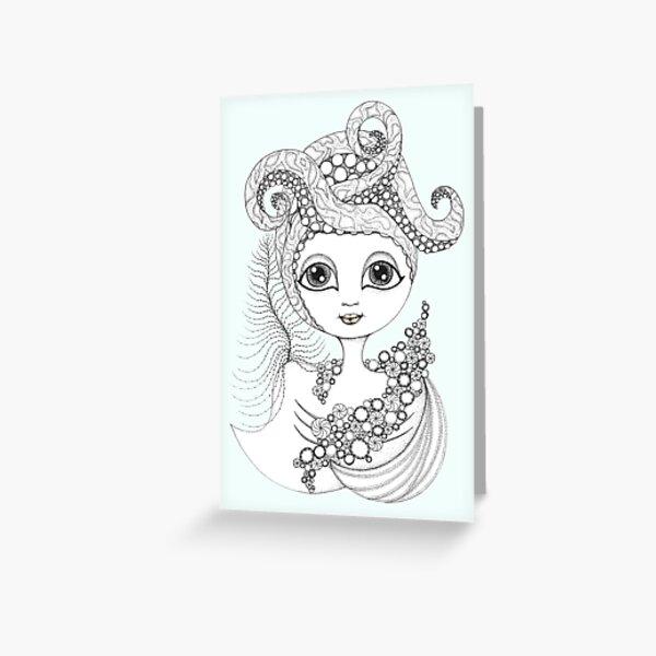 Calamari Queen Greeting Card