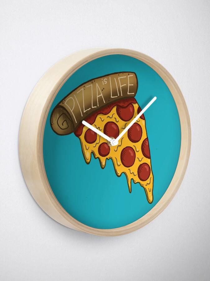 Vista alternativa de Reloj La pizza es VIDA