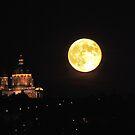 Full Moon and Superga church by Stefano  De Rosa