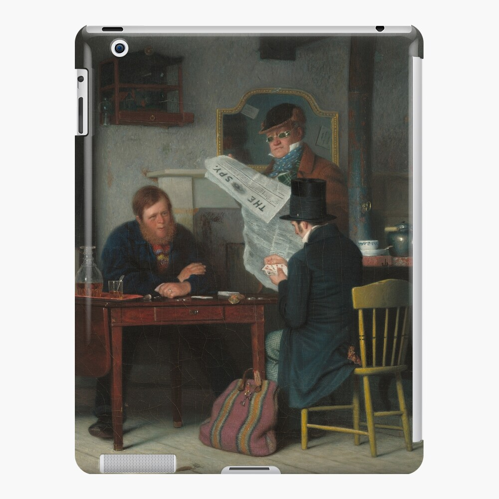 Waiting for the Stage Oil Painting by Richard Caton Woodville iPad Case & Skin