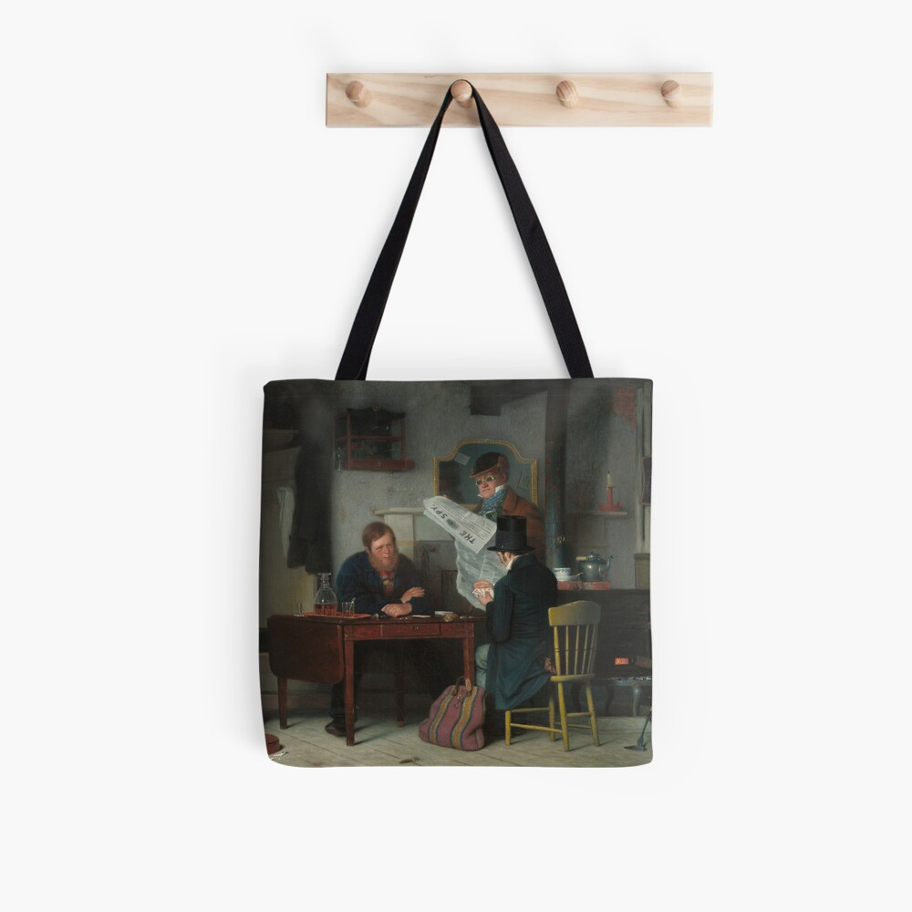 Waiting for the Stage Oil Painting by Richard Caton Woodville Tote Bag