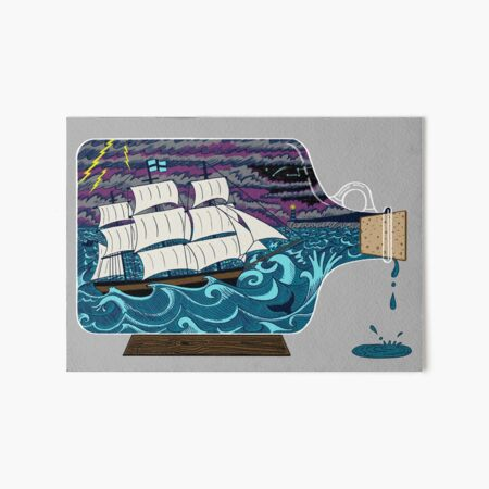 Ship in a Bottle Art Board Print
