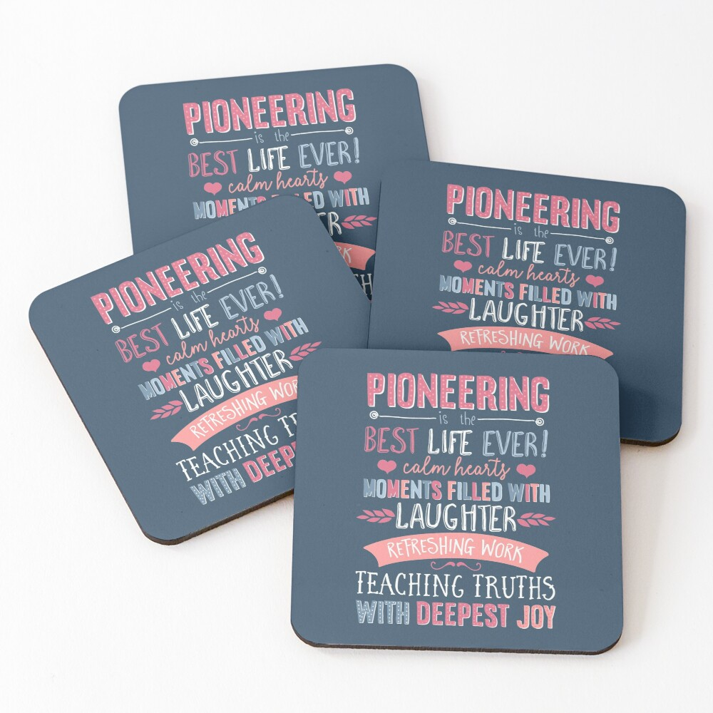 PIONEERING  Coasters (Set of 4)