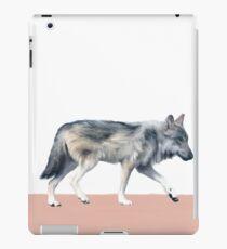 Wolf on Blush iPad Case/Skin