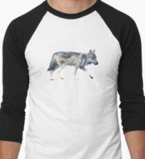 Wolf on Blush Baseball ¾ Sleeve T-Shirt