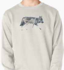 Wolf on Blush Pullover Sweatshirt