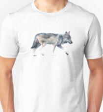 Wolf on Blush Slim Fit T-Shirt