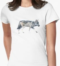 Wolf on Blush Fitted T-Shirt