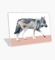 Wolf on Blush Laptop Skin