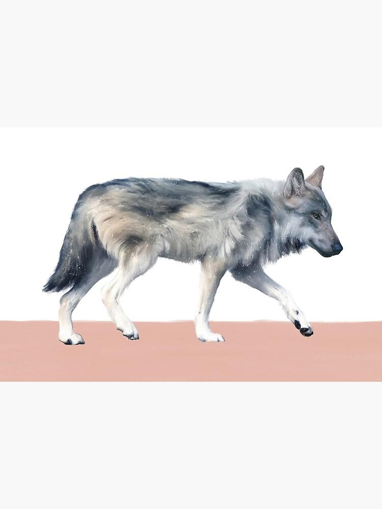 Wolf on Blush by AmyHamilton