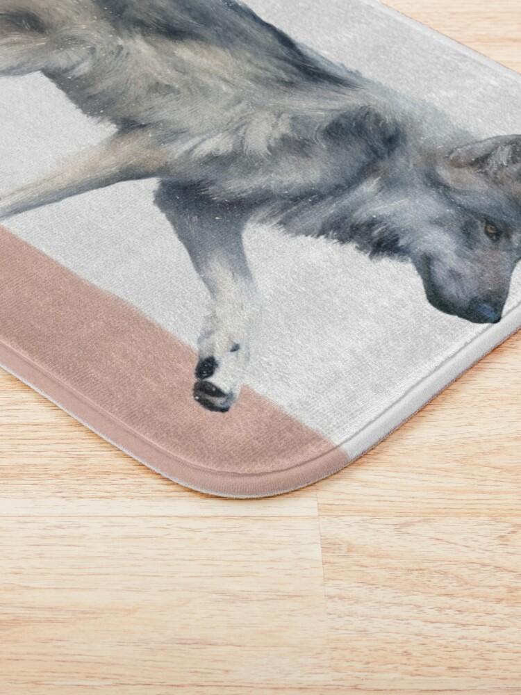 Alternate view of Wolf on Blush Bath Mat
