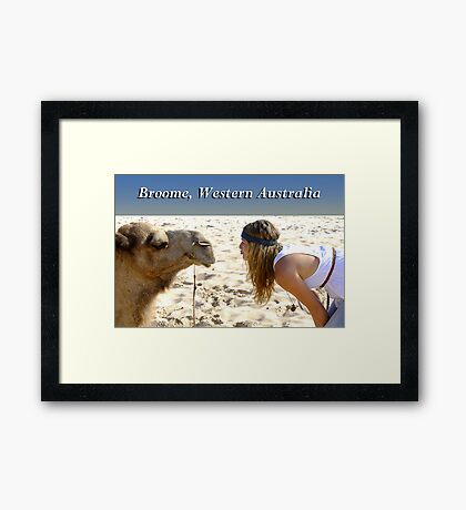 Broome, WA, Pucker Up Framed Print
