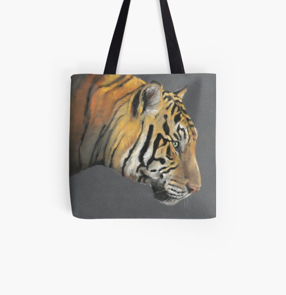 Tiger wildlife art All Over Print Tote Bag