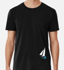 A Boat Out On Water Premium T-Shirt