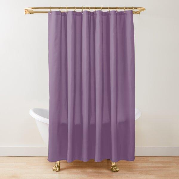 Viola Purple Simple Designer Color All Over Color Shower Curtain