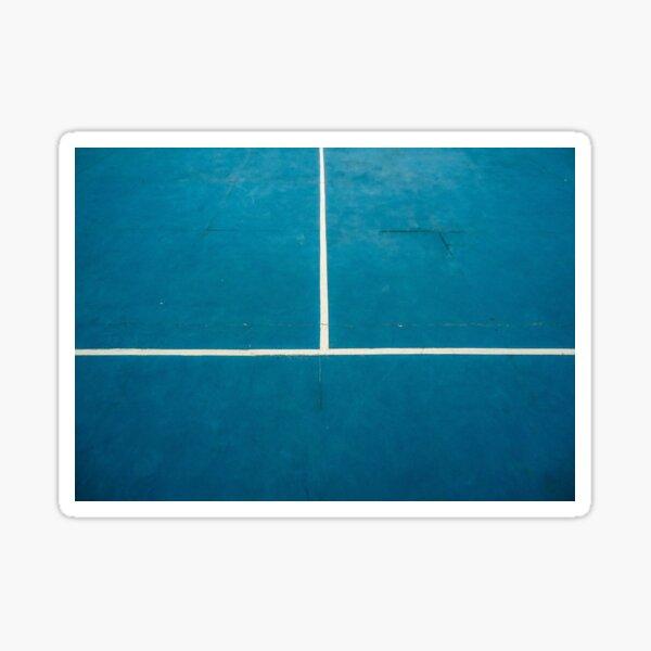 Blue tennis court. Sticker