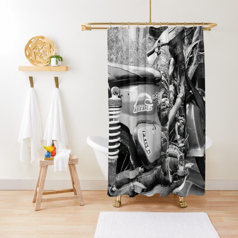 Dominican Republic Moped Shower Curtain