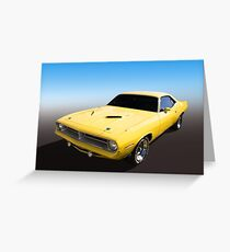 Plymouth Muscle Greeting Card