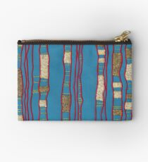 Layered on blue Zipper Pouch