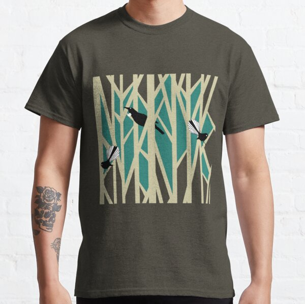 Tui and Fantail on Trees Classic T-Shirt