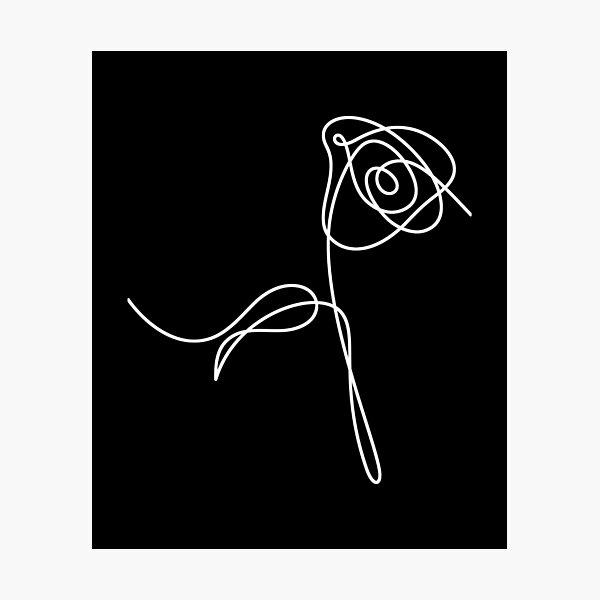 KPOP BTS Love Yourself Fleurs: Rose Impression photo