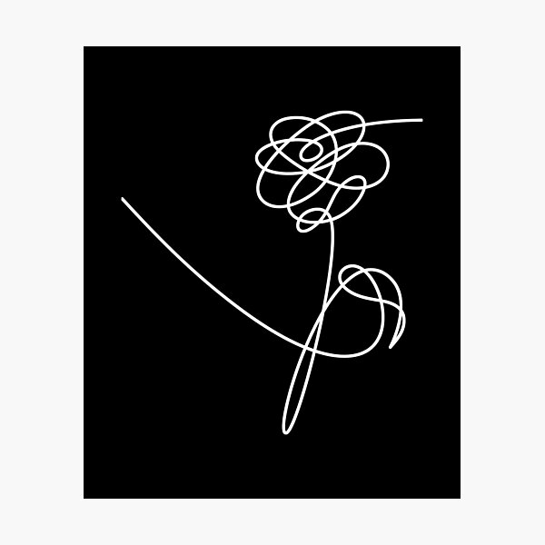 KPOP BTS Love Yourself Fleurs: Pivoine Impression photo