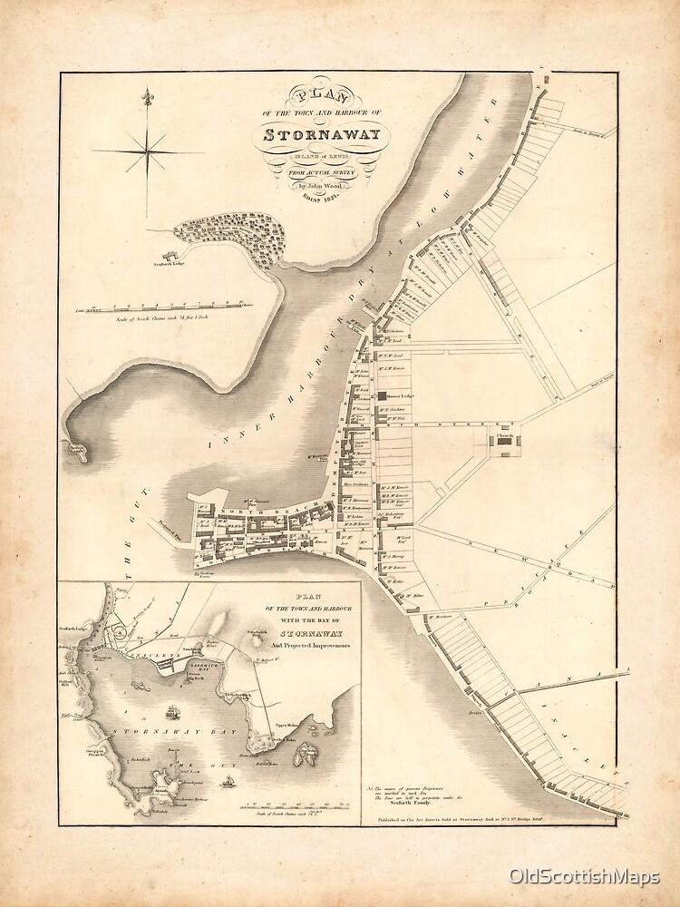 Stornoway Old Map | Antique Scottish Town Map, Scottish Hebrides Gift Map by OldScottishMaps