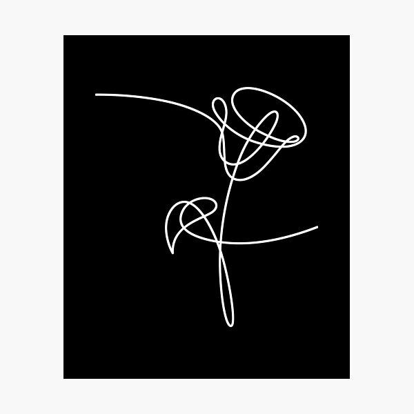 KPOP BTS Aimez-vous Fleurs: Tulipe Impression photo