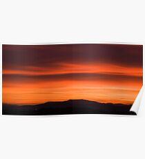 Sunset over Ljubljana suburb Poster