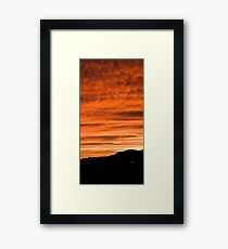 Sunset over suburb of Ljubljana Framed Print
